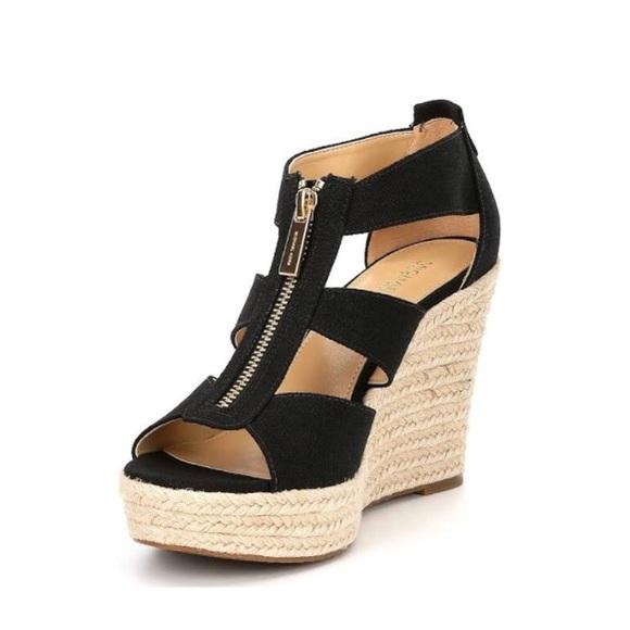 eb21da3852 Michael Kors Damita Platform Wedge Sandal Black 8.  M_5b4bc3b961974595fb0e0a9b